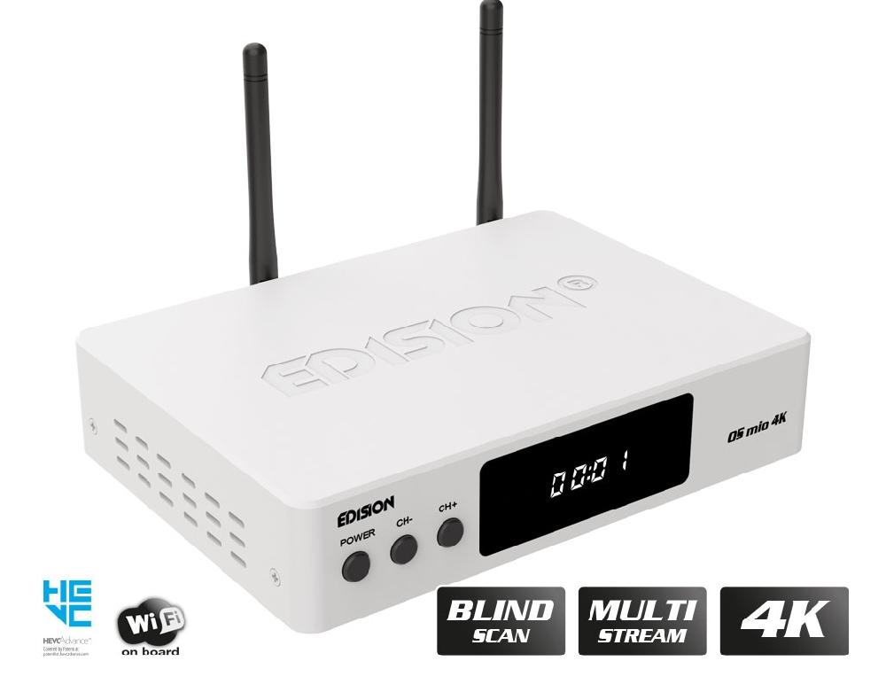 RECEIVERS / LINUX / OS MIO 4K S2X + T2/C White
