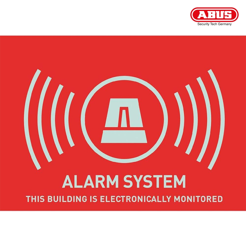 AU1314 Warning Sticker ''Alarm'' 148X105mm