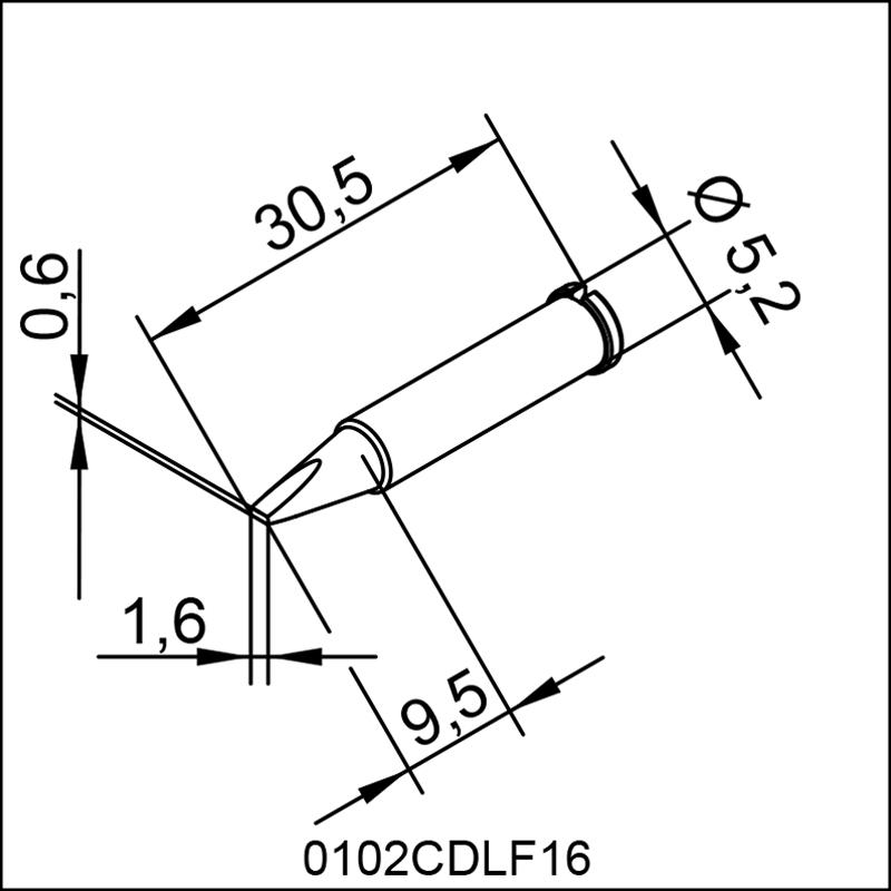 0102CDLF16 ERSA ΑΝΤΑΛΛΑΚΤΙΚΟ ΑΙΧΜΗ  1,6mm