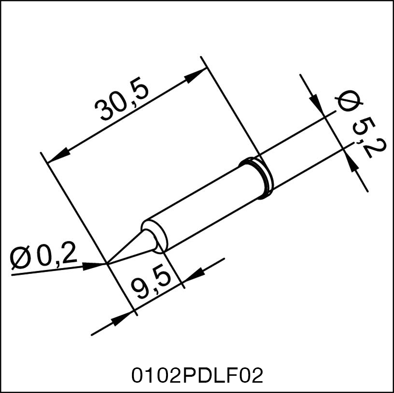 0102PDLF02 ERSA ΑΝΤΑΛΛΑΚΤΙΚΟ ΑΙΧΜΗ 0,2mm