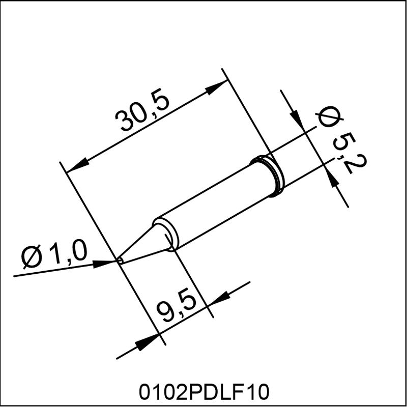 0102PDLF10 ERSA ΑΝΤΑΛΛΑΚΤΙΚΟ ΑΙΧΜΗ 1,0mm