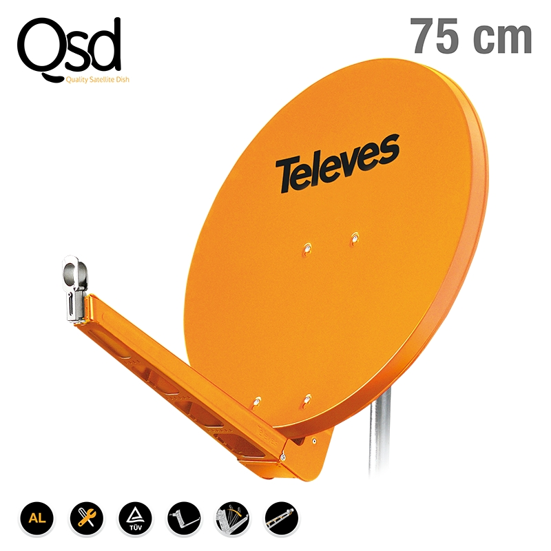 7902 DISH QSD 75 ALU orange