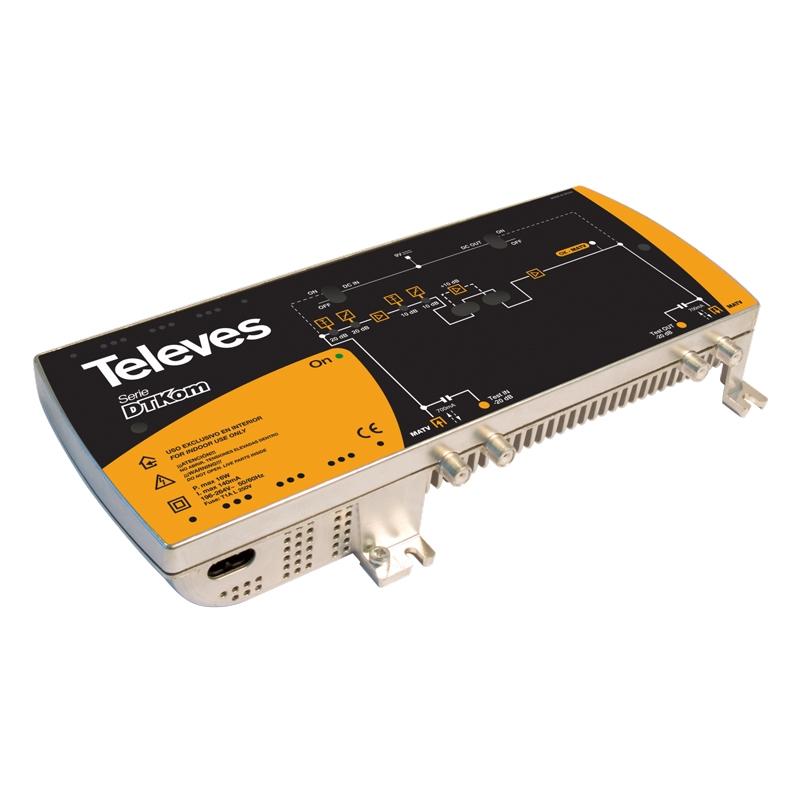5338 DTKom Line Amplifier 47-862MHz 41-53dB 123dBuV
