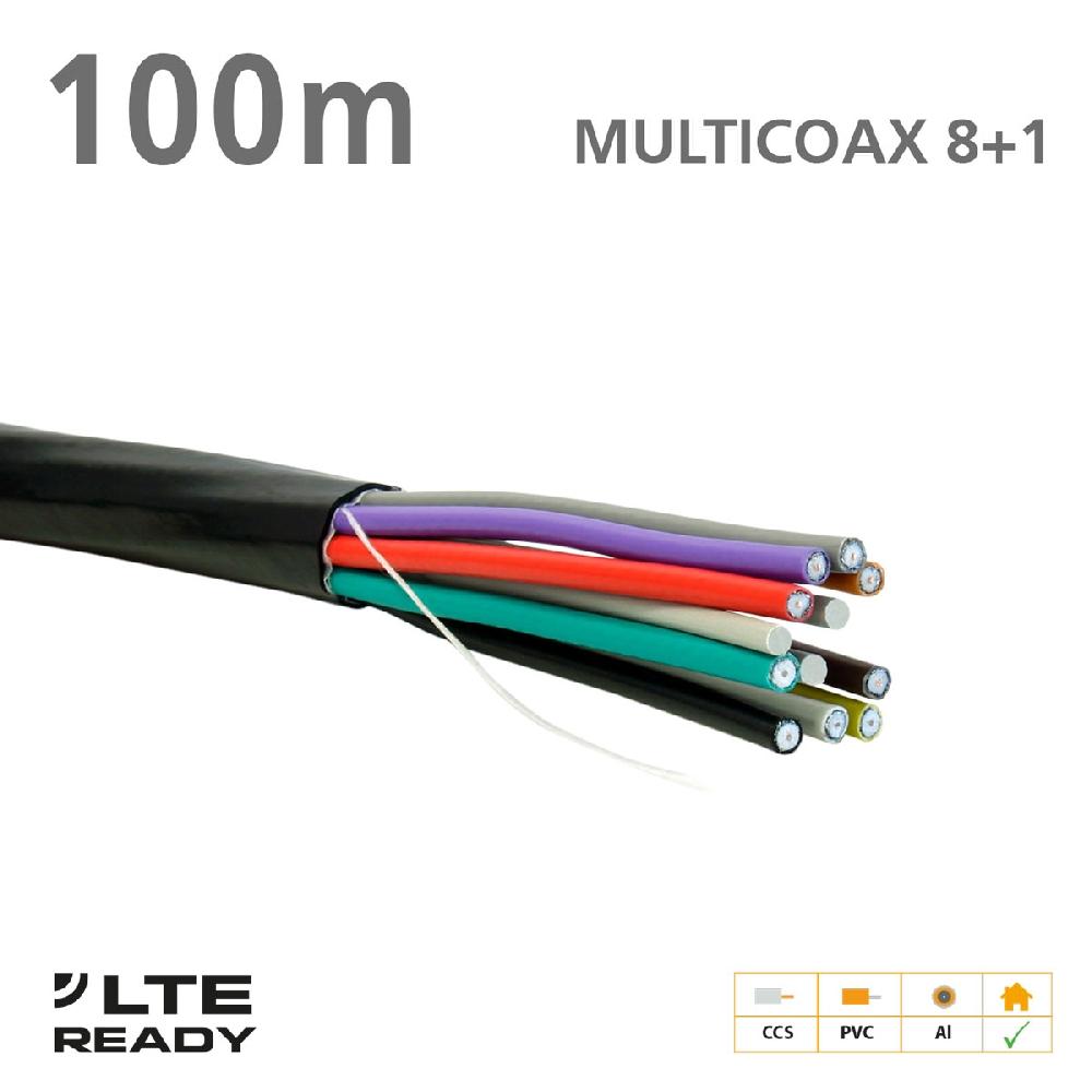 211021 ΚΑΛΩΔΙΟ MULTICOAX 8+1 CCS PVC Black 100m