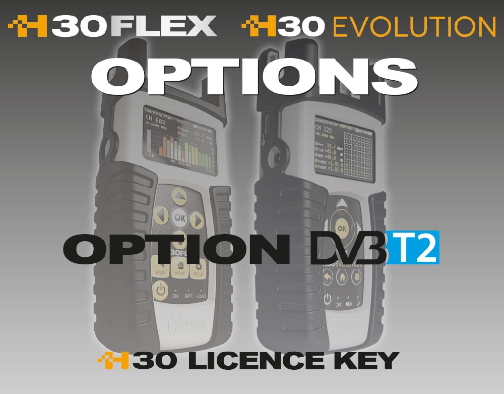 593232 Option DVB-T2 for H30FLEX/EVOLUTION (on DVB-T)