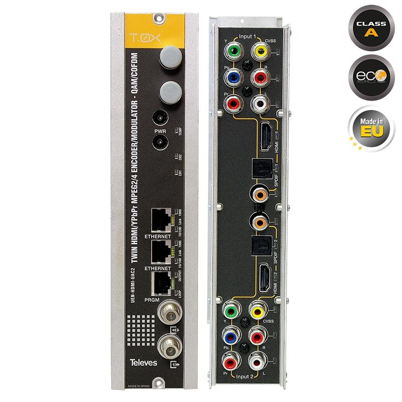 563832 T.0X TWIN HDMI/AV-COFDM/QAM Modulator