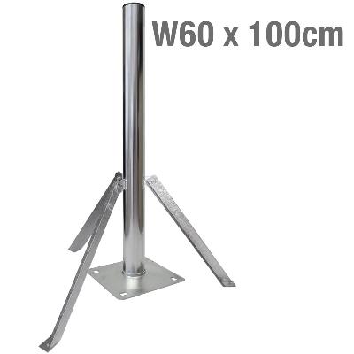 ΒΑΣΗ ΔΑΠΕΔΟΥ 3 ΑΝΤΙΡΙΔΕΣ Φ60 x 100cm
