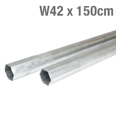 MAST METALLIC GALVANIZED 42mmx1,5mm 150cm