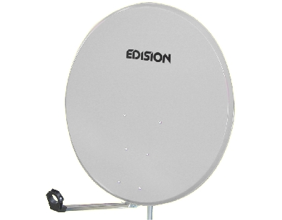 SATELLITE DISH 80 STEEL WHITE