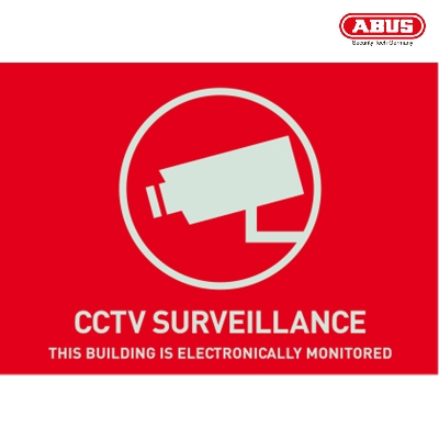 AU1312 Warning Sticker CCTV Surveillance 148 x 105mm