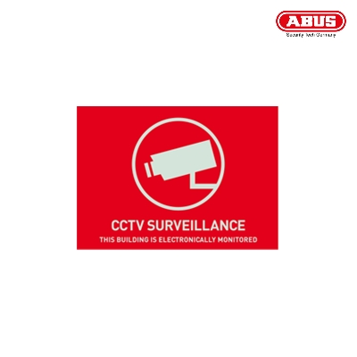 AU1313 Warning Sticker CCTV Surveillance 74 x 52,5mm