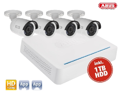 TVVR33049T DVR Kit HD: 10Ch.DVR Hybrid + 4 Cameras Tube