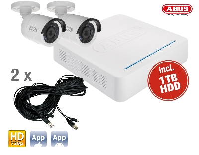 TVVR33204 DVR Kit HD: 4Ch.DVR + 2 Outdoor Cameras