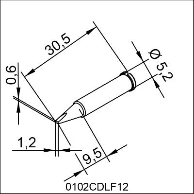 0102CDLF12 ERSA ΑΝΤΑΛΛΑΚΤΙΚΟ ΑΙΧΜΗ 1,2mm