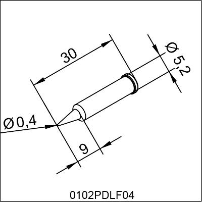 0102PDLF04 ERSA i-Tip LONG LIFE SOLDERING TIP 0,4mm