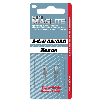LM2A001 Replacement Lamp Xenon MINI MAGLITE AA/AAA SET/2pcs