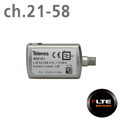 403101 LTE FILTER 4G (ch.21-58) F