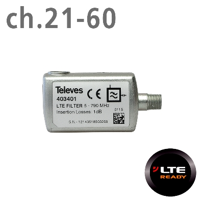 403401 LTE FILTER 4G (ch.21-60) F