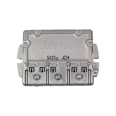 543702 splitter 4 ways Easy-F 5-2400 MHz DC pass