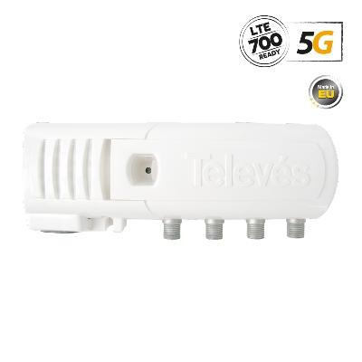 552220 ΕΝΙΣΧ. ΓΡΑΜΜΗΣ F 5G LTE 20dB 110dBuV V/U 3out (2+TV)