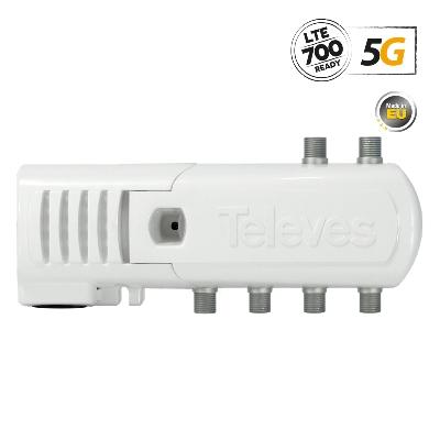 552320 Line Amplifier F 5G LTE 16dB 102dBuV V/U 5out (4+TV)
