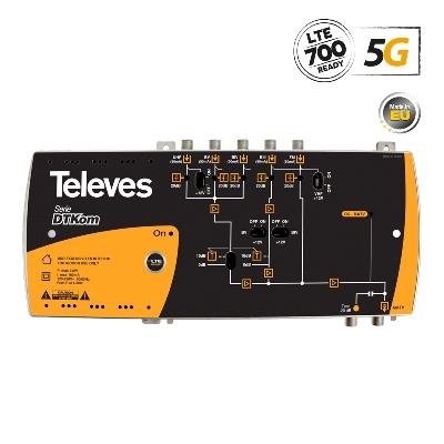 534120 DTKom Βroadband Αmplifier F 5G LTE 31-41dB 123dBuV 5-in