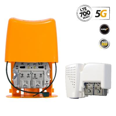 568010 NanoKom Kit: Mast Amplifier 5G LTE + PSU 24V UHF/UHF/VHF