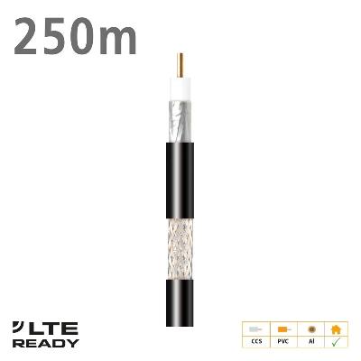 212702 Coaxial Cable CXT-1 CCS AL Eca PVC Black 250m