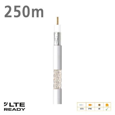 212703 Coaxial Cable CXT-1 CCS AL Eca PVC White 250m