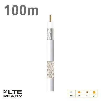 2127 Coaxial Cable CXT-1 CCS AL Eca PVC White 100m