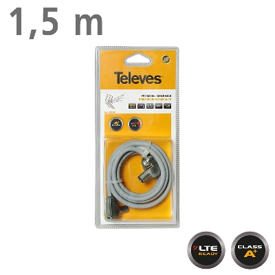 431001 CABLE TV 1,5m M/F Grey LTE