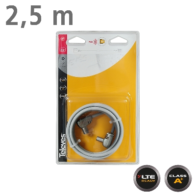 431002 CABLE TV 2,5m M/F Grey LTE