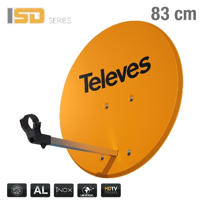 793111 ISD DISH 83cm ALU ORANGE