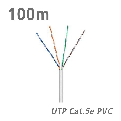 68710 Data Cable Cat.5e U/UTP Eca CCA PVC 5.0mm Grey 100m