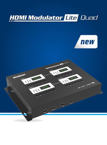 EDISION HDMI MODULATOR lite QUAD. NEW 4-CHANNEL DIGITAL MODULATOR.
