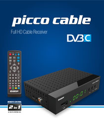 EDISION PICCO Cable THE BRAND NEW FULL HD DVB-C RECEIVER FROM EDISION, WITH MORE!