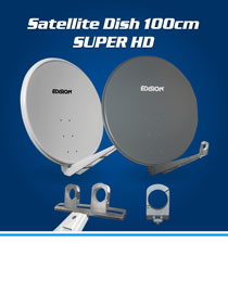 EDISION 100 SUPER HD ALU. NEW HEAVY DUTY SATELLITE TV DISHES.