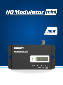 NEW!  EDISION HDMI Modulator Mini. ALL THE FEATURES IN A MINI SIZE AND EXTRA ATTRACTIVE PRICE.