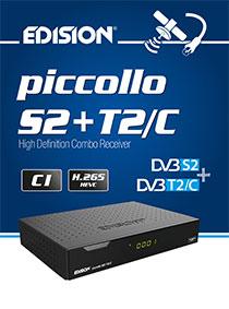 PICCOLLO S2+T2/C, a new EDISION COMBO receiver!