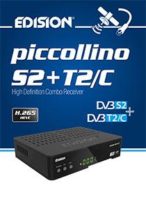 PICCOLLINO S2+T2/C, the new compact Η.265/HEVC COMBO EDISION receiver!