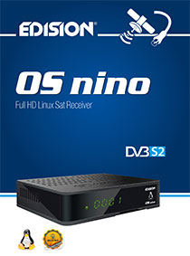 OS NINO DVB-S2, a new E2 LINUX Full High Definition satellite receiver from EDISION!