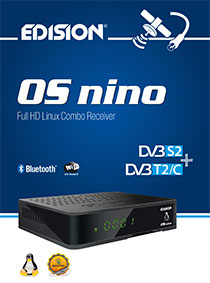 OS NINO DVB-S2 + DVB-T2/C Hybrid, another new E2 LINUX Combo Full High Definition receiver from EDISION!