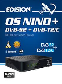 OS NINO+ Brand new EDISION E2 LINUX DVB-S2 & DVB-T2/C Hybrid H.265/HEVC receiver!