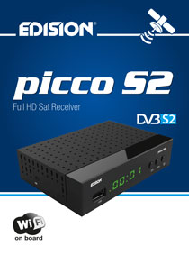 "EDISION PICCO S2. The New ""junior"" Satellite receiver from EDISION!"