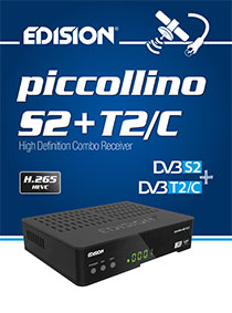"PICCOLLINO S2+T2/C, vέος ""μικρός"" Η.265/HEVC COMBO δέκτης EDISION!"