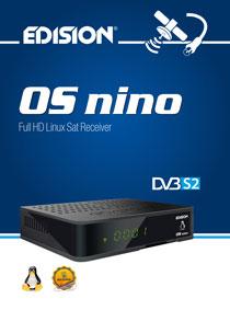 OS NINO DVB-S2, νέος E2 LINUX Full High Definition δορυφορικός δέκτης απο την EDISION!