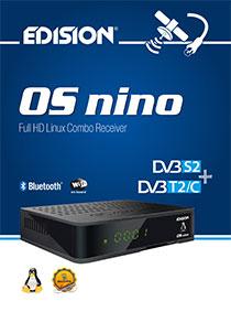 OS NINO DVB-S2 + DVB-T2/C Hybrid, ένας νέος E2 LINUX Full High Definition Combo δέκτης της EDISION!