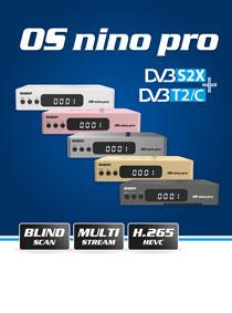 OS NINO PRO DVB-S2X + DVB-T2/C. Το κορυφαίο μοντέλο δέκτη E2 LINUX Combo της EDISION!
