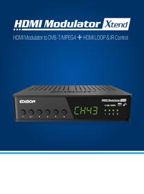 EDISION HDMI Modulator Xtend. ΝΕΟ ΨΗΦΙΑΚΟ MODULATOR με HDMI LOOP, RF IN και IR OVER COAX!