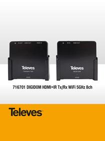 ΑΣΥΡΜΑΤΗ ΑΝΑΜΕΤΑΔΟΣΗ HDMI. ΜΕ ΤΟ ΣΕΤ TELEVES 716701 DIGIDOM HDMI+IR Tx/Rx WiFi 5GHz 8ch.!